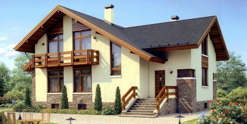 отделка фасада дома2