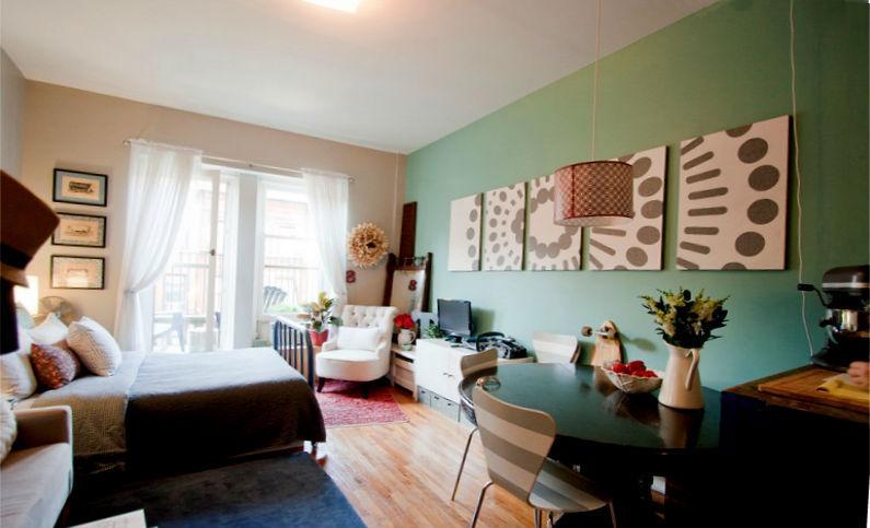 планировка интерьера однокомнатной квартиры4