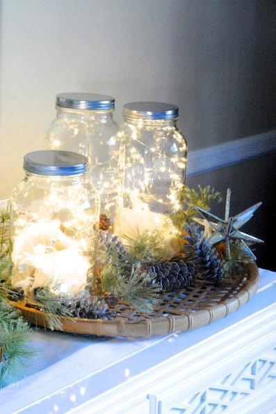 световое украшение интерьера к рождеству и новому году (3)