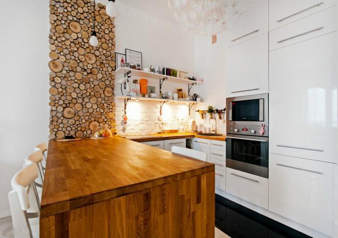 высокие шкафы на кухне