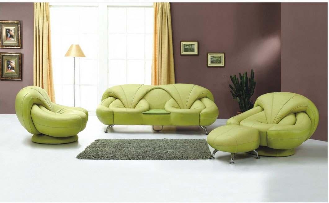 зеленый цвет в интерьере гостиной10