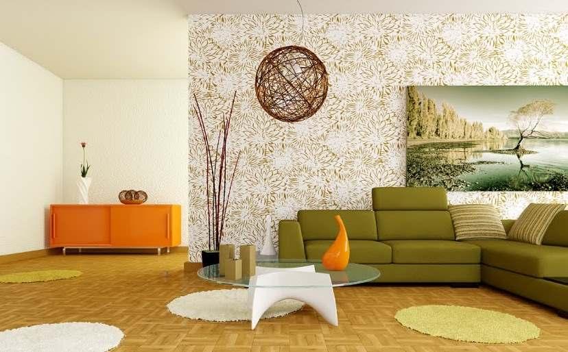 зеленый цвет в интерьере гостиной9