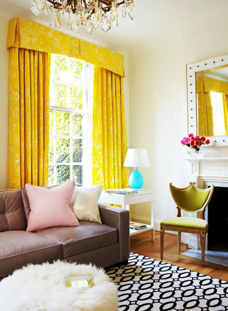 желтый цвет в интерьере гостиной8