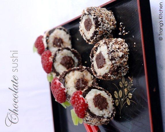 Шоколадные суши своими руками {Видео}