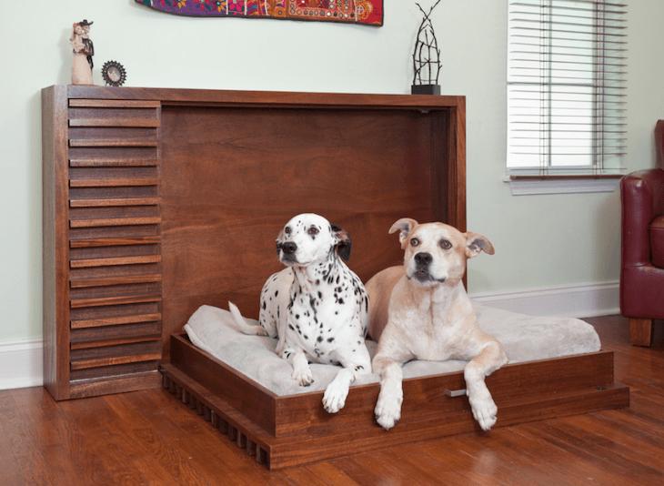 Компактная и стильная кровать для питомцев