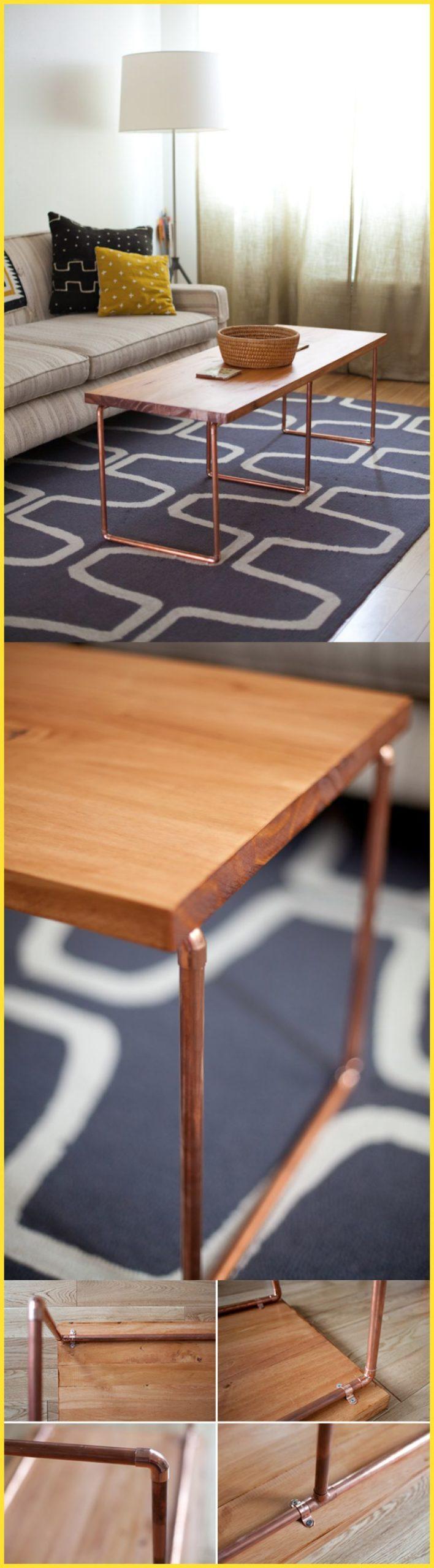 25 Примеров - как самостоятельно сделать журнальный стол