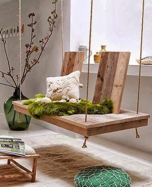 Качели и подвесные кресла в интерьере. ТОП 15