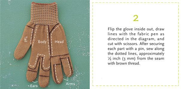 Как превратить перчатку в Бурундука