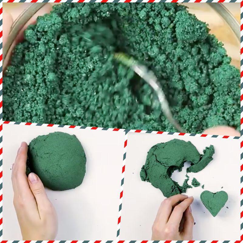 Как самостоятельно сделать кинетический песок?