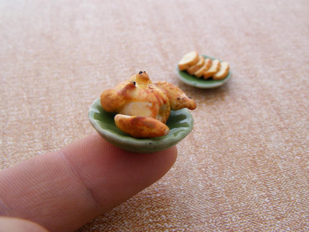 Микро еда из полимерной глины
