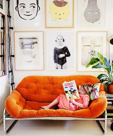 Оранжевый цвет в интерьере. 23 Идеи