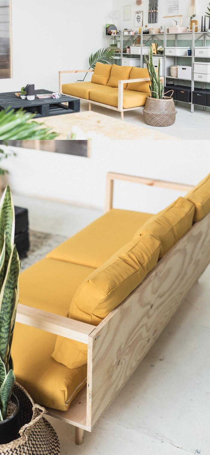 Как сделать простой диван из фанеры