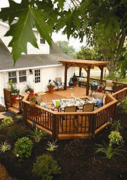 41 Пример бесподобных террас у дома
