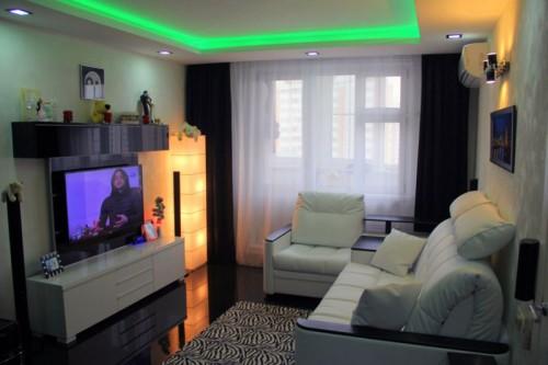 16 кв дизайн зала квадратного в обычной квартире
