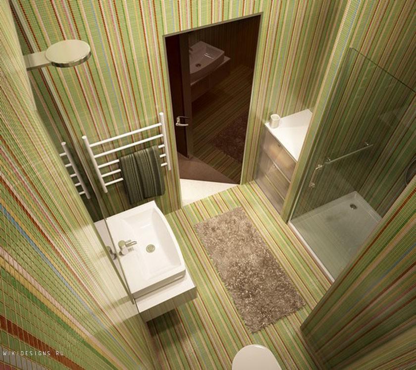 Дизайн ванної кімнати 5кв.м..