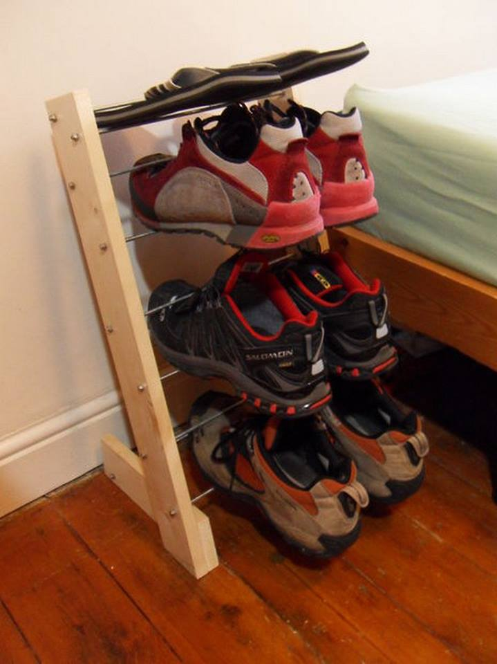 Изготовление подставки для обуви своими руками