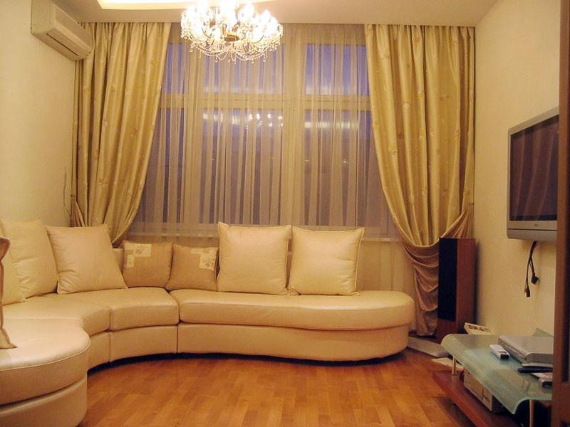 мебель и шторы для зала фото