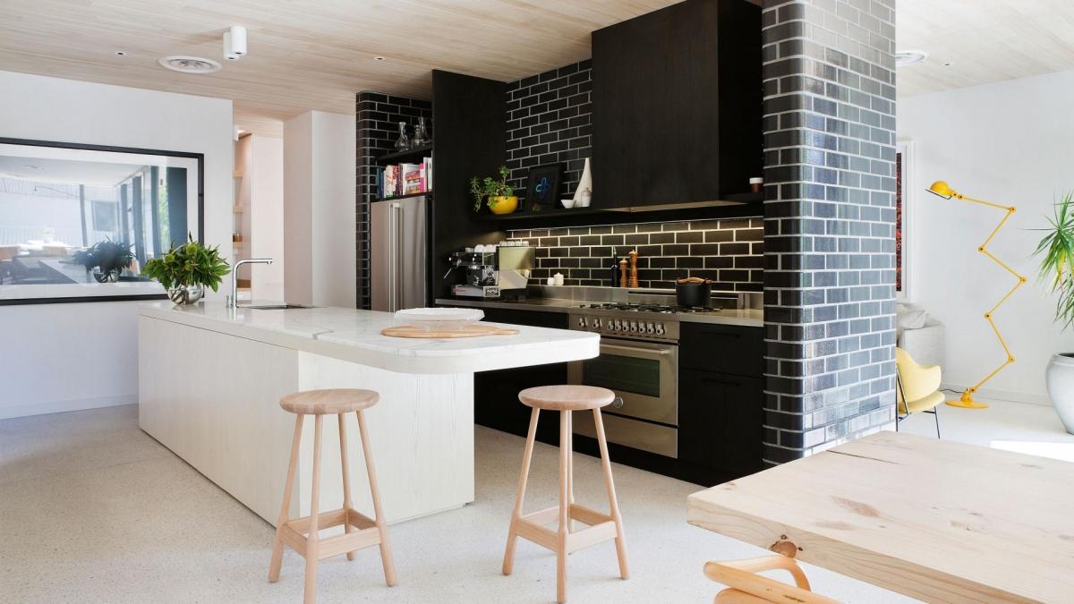 Проект дизайн интерьера кухни столовой 2017-2018 современные идеи