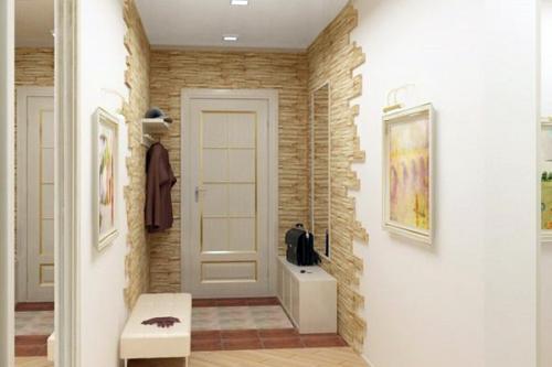 Декоративная отделка камнем в прихожей-kamnem-14