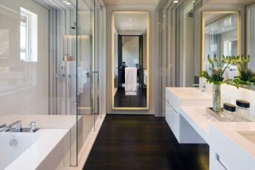 Идеи для купания в ванной комнате с деревянным полом