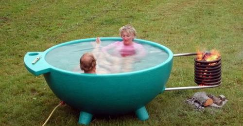 идеи для наружных ванн