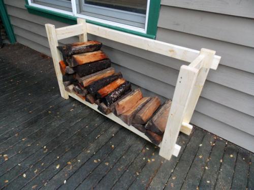 Простая дровяная стойка
