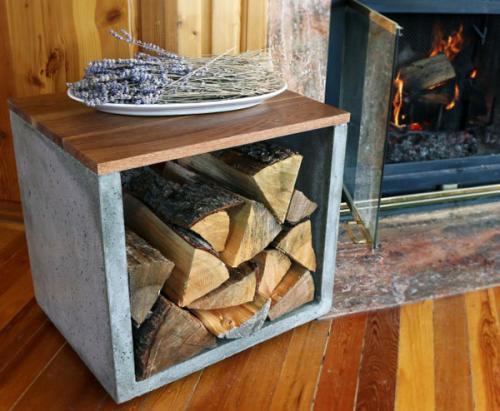 Бетонная стойка для хранения дров