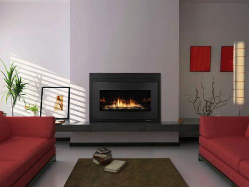 газовый камин вставки минималистский интерьер гостиной