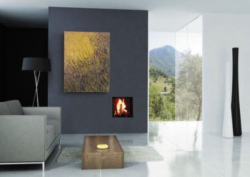 современный двухсторонний камин современный домашний декор