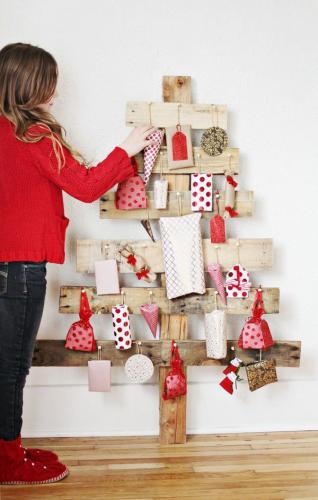Идеи дерева поддонов простой рождественский декор деревенский декор
