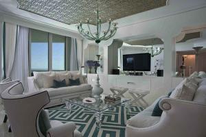 Дизайн идеи элегантный белый мебель геометрический узор ковер…
