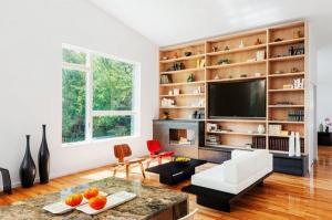 Уникальные черные белые диваны стены книжные полки мебель идеи