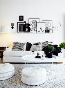 Черно-белое украшение