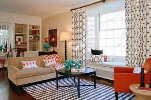 Декор сидения идеи середине века современной гостиной