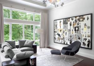 Кресло для отдыха современный серый диван