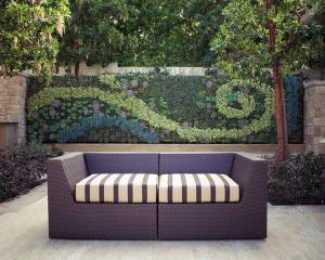 Современные террасы с озеленением многослойных стен