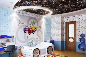 Звездное небо, звезды на потолке в детской комнате