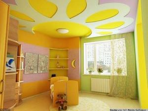 Красивая детская для девочек в жолтых тонах