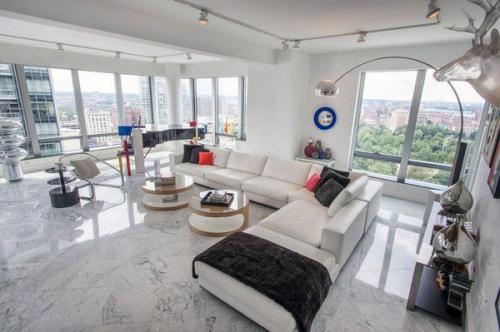 мраморный пол современный белый диван