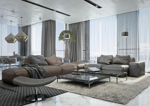 дизайн нейтральных цветов мебели