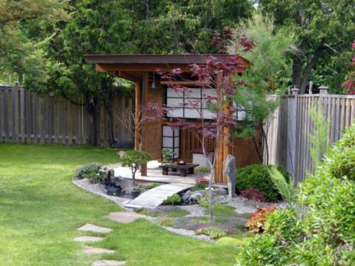 современный дизайн бонсай, патио садовые идеи