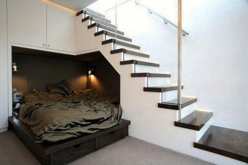 минималистский белый дизайн спальни идеи в галерее