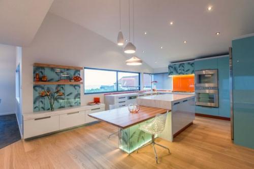Современные 3d плитки, деревянные шкафы