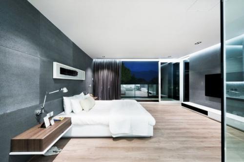 идеи для мужчин минималистская спальня белая кровать