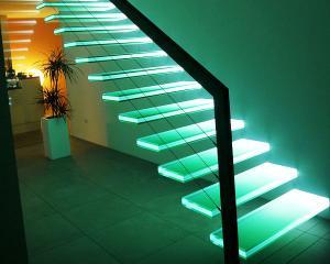 современный дизайн интерьера спиральные плавающие