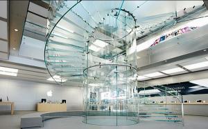 Стеклянные винтовые лестницы Коммерческое здание Современная лестница