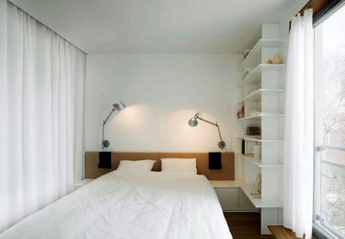 встроенные шкафы зеркальные двери белая мебель
