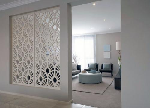 дизайнерские идеи жилые комнаты декоративные панели