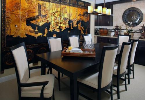 Современный дизайн квартиры азиатских экранов