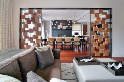 Жилые столовые металлические деревянные блоки